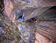 Rock Climbing Photo: Transitioning from the slab to the arête. Novembe...