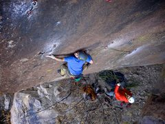 Rock Climbing Photo: Really cool, thin slab moves between incredible so...