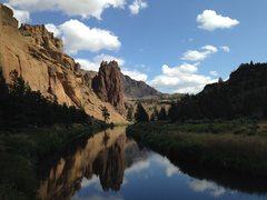 Rock Climbing Photo: Afternoon on the Crooked River after a spectacular...