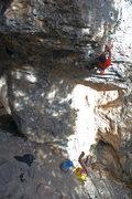 Rock Climbing Photo: Teancum trying hard