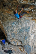 Rock Climbing Photo: Tyson figuring out the beta after sending atmosphe...