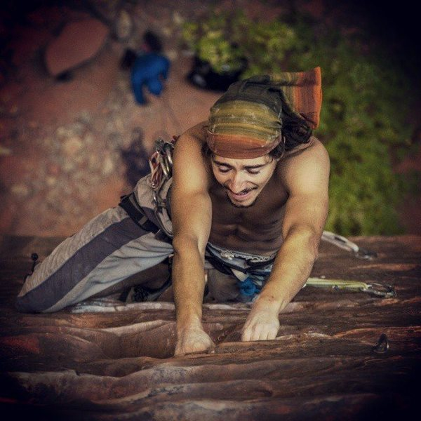 Rock Climbing Photo: Pumped near the top of Namaste. Tough route for a ...