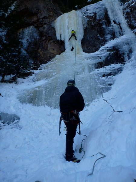 Rock Climbing Photo: Black Pudding Gully, NH