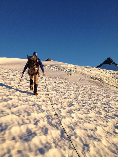 Crossing Sulphide glacier.