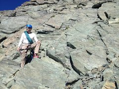 Rock Climbing Photo: Getting started up the summit pyramid at Shuksan.