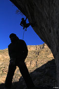 Rock Climbing Photo: Ed and Mike enjoying the Hueco Cave - Thankgiving ...