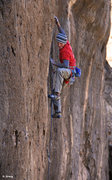 """Rock Climbing Photo: Midway through the thin stuff """"Number 3""""..."""