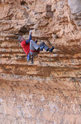 Rock Climbing Photo: Ed cruises the first roof after the  hard boulder ...