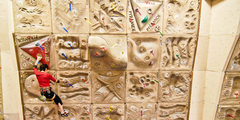 Rock Climbing Photo: Lead climbing on world cup Pyramide wall