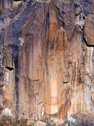"Rock Climbing Photo: The striking dihedral of ""Viking""."