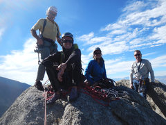 Rock Climbing Photo: From L to R: Rick, Hayden & Evelyn Wyatt and Les E...