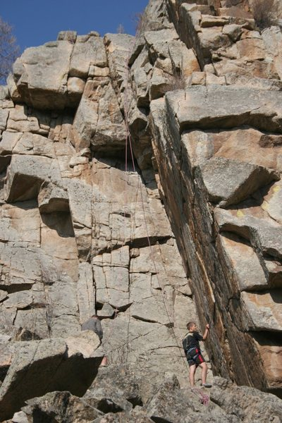 Rock Climbing Photo: 5.12+ or 5.13- project up above most the cliffs on...