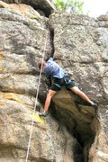 Rock Climbing Photo: Fighting for the lie-back on the off-width at the ...