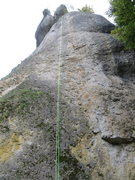 Rock Climbing Photo: The rope is on Katalysator, but the line climbs a ...