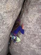 Rock Climbing Photo: Knee jam!