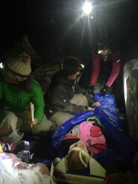Night rescue scenario