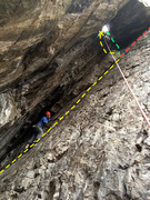 Rock Climbing Photo: This photo shows the location of the chain anchors...