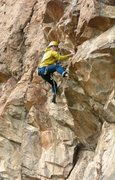 Rock Climbing Photo: Climbing the fun 5.10 overhanging  dihedral at the...