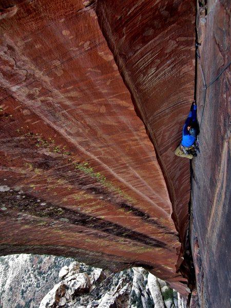Rock Climbing Photo: Stu wishing he had some knee pads