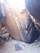 Rock Climbing Photo: Denizen, entrance is on the left