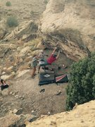 Rock Climbing Photo: The swing.