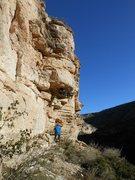 Rock Climbing Photo: Climbing under the roof.