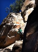 Rock Climbing Photo: D. Mabe going deep and steep P3