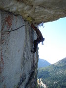 Rock Climbing Photo: Traversing Under the Big Top