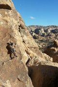 Rock Climbing Photo: Chad Parker leading Gandy 5.9
