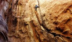 Rock Climbing Photo: Sebastian on Caught Inside on a Big Set