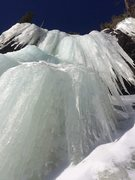 Rock Climbing Photo: Ice was in great condition! Looking up The Crypt 1...