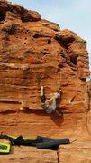 Rock Climbing Photo: Matt before the crux