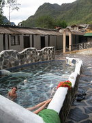 Rock Climbing Photo: Some of the hot springs in the nearby town of Papa...