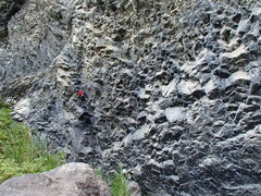 Rock Climbing Photo: Eli on the bat crack in 2014.  This zone now has d...