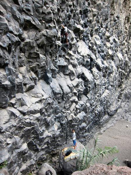 Rock Climbing Photo: Willy Navarette, the maestro of Banos climbing bel...