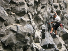 Rock Climbing Photo: Willy Navarette, Banos local and father to two cli...