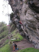"Rock Climbing Photo: Climber on one of a 7a route ""Acuestas y Venc..."