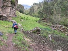 Rock Climbing Photo: Approach to Sigsipamba.