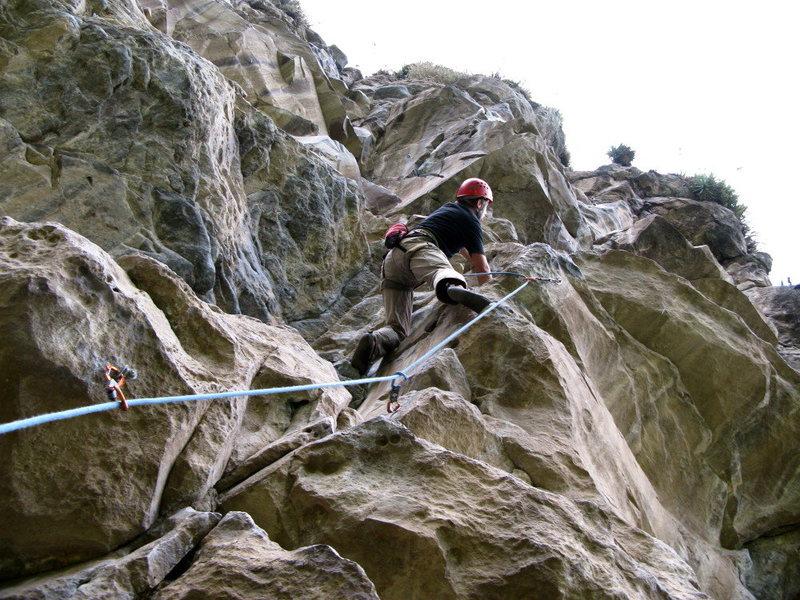 Rock Climbing Photo: Alejo Lazzati getting it done at Sigsipamba crag.