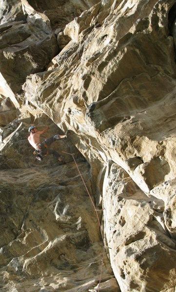 Climber enjoying a layback at Sigsipamba.