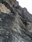 Rock Climbing Photo: Looking up the climb - no name