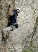 Rock Climbing Photo: FFA of Pent Up, Black Canyon