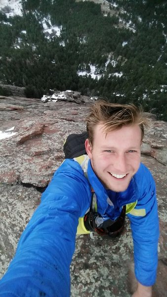Rock Climbing Photo: Soloing Flatirons