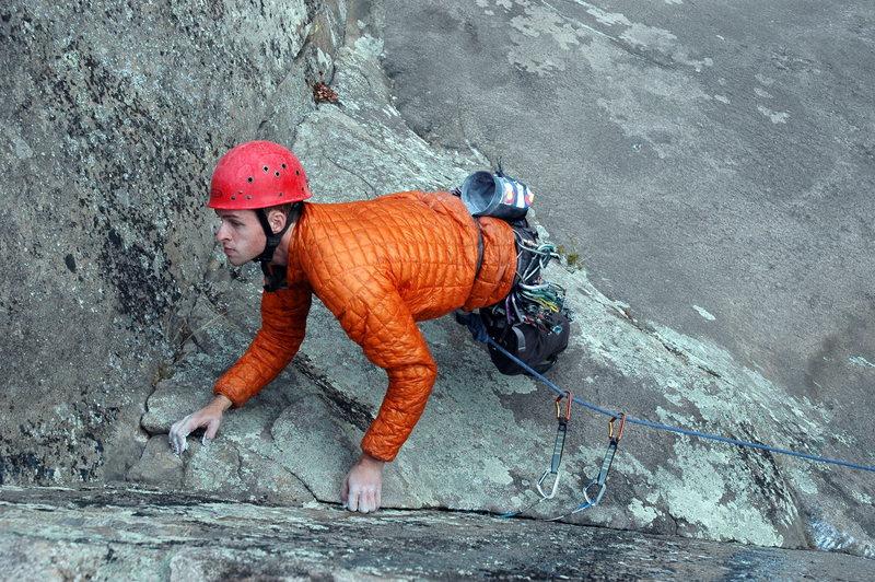 Rock Climbing Photo: Aaron on Levitation.