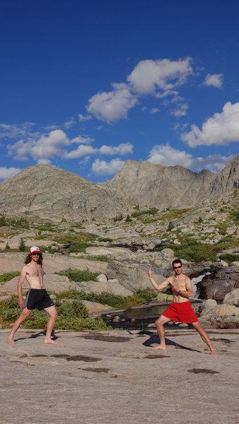 Rock Climbing Photo: After climbing Ellingwood Peak.  Wind River Range