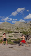 Rock Climbing Photo: After climbing Ellingwood Peak.  Wind River Range