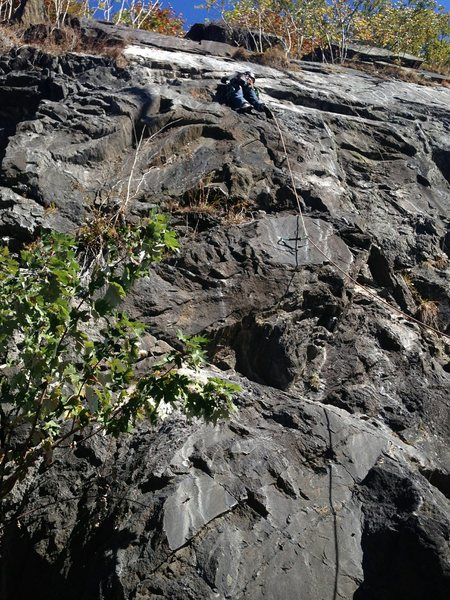 Rock Climbing Photo: Me leading 18 and life