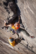 Rock Climbing Photo: Eric on the beautiful 2nd pitch dihedral of Stone ...