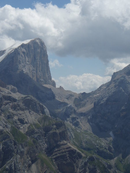Marmolada di Penia - South West end of the mountain