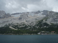 Rock Climbing Photo: North side of Marmolada during a low snow year. Gr...